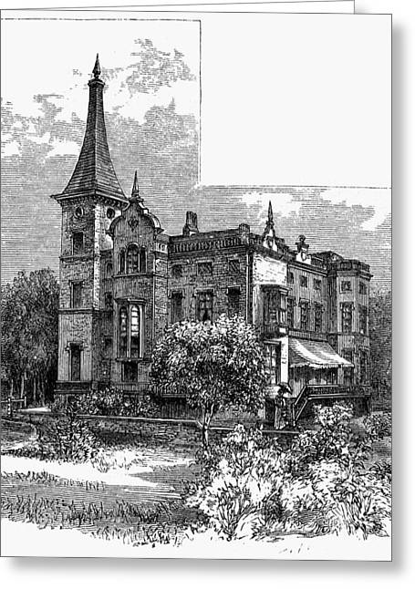 Newark Kearny Mansion Greeting Card by Granger