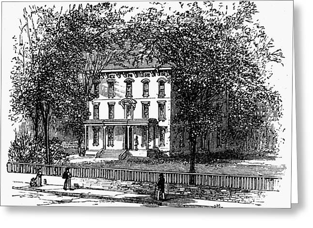 Newark Mansion, 1876 Greeting Card by Granger