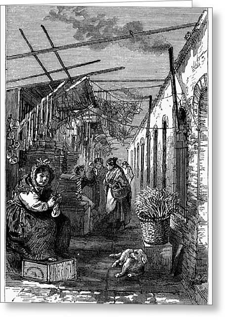 Newark Market, 1876 Greeting Card by Granger