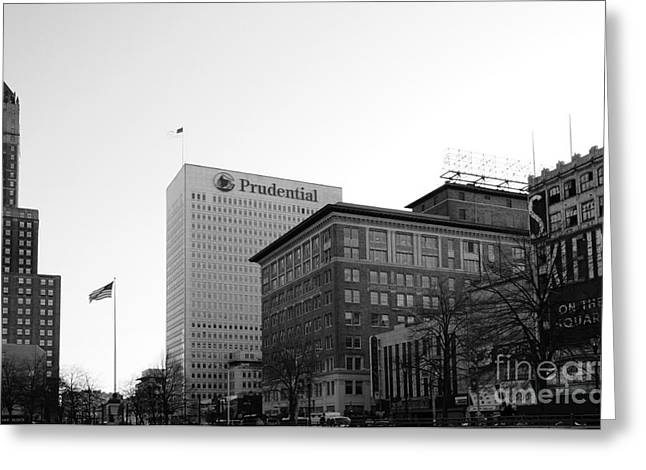 Newark  New Jersey In Black And White Greeting Card by Paul Ward