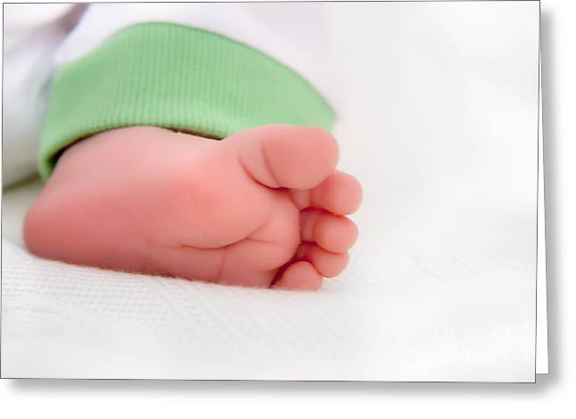 Newborn Baby Foot Greeting Card