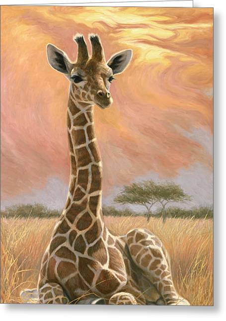 Newborn Giraffe Greeting Card