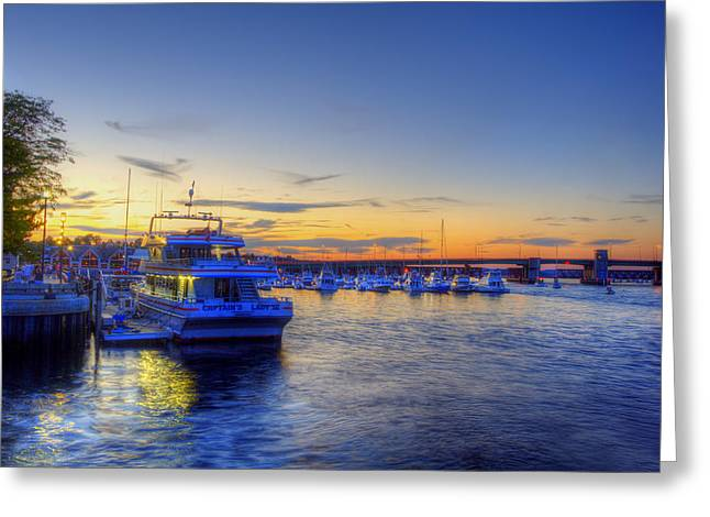 Newburyport Harbor Marina Greeting Card