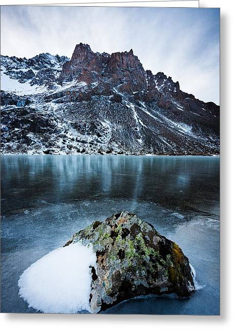 Frozen Mountain Lake Greeting Card