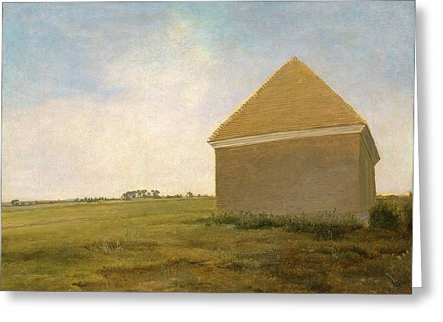 Newmarket Heath, With A Rubbing-down House Newmarket Heath Greeting Card by Litz Collection