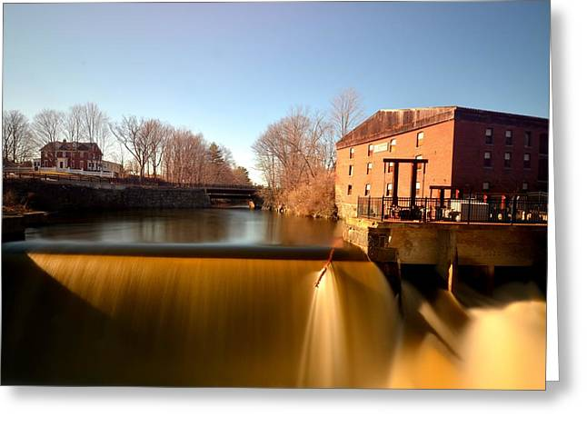Newmarket Nh Waterfall Greeting Card by Toby McGuire
