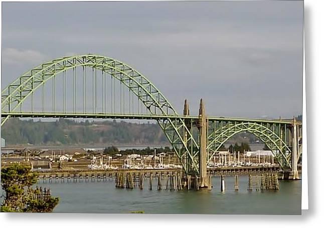 Newport Bay Bridge Greeting Card by Susan Garren