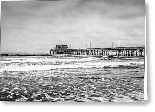 Newport Beach Pier California Panoramic Photo Greeting Card