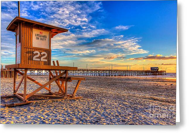 Newport Beach Pier - Wintertime  Greeting Card by Jim Carrell