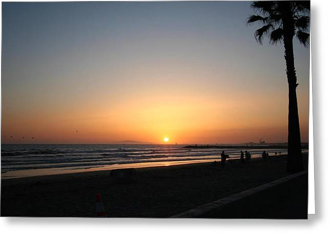 Newport Beach Sunset Greeting Card
