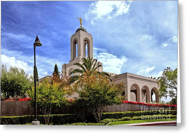 Newport Beach Temple Greeting Card
