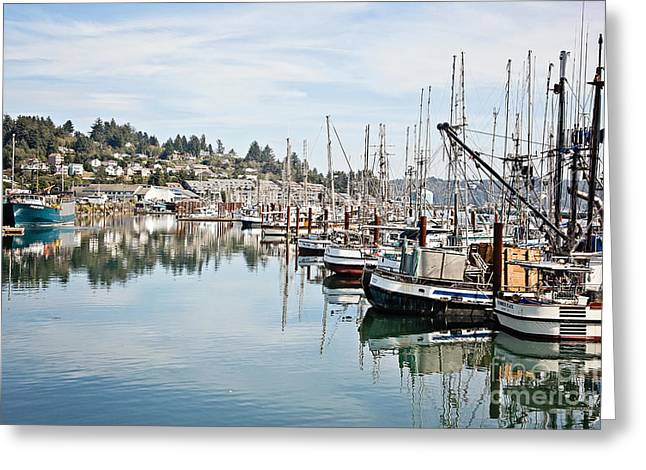 Newport Harbor Greeting Card by Scott Pellegrin