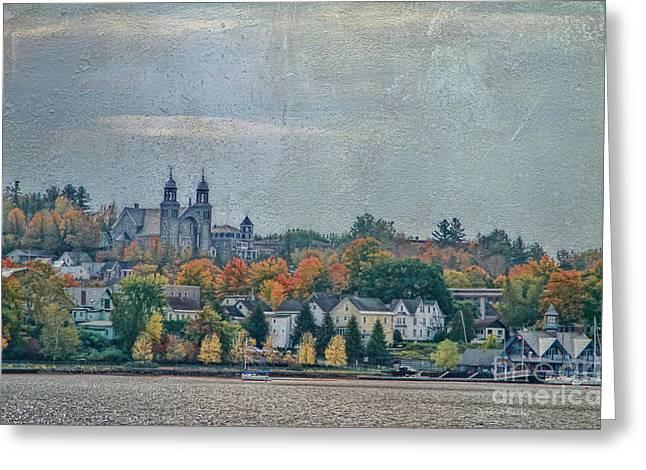 Newport In Autumn Greeting Card by Deborah Benoit