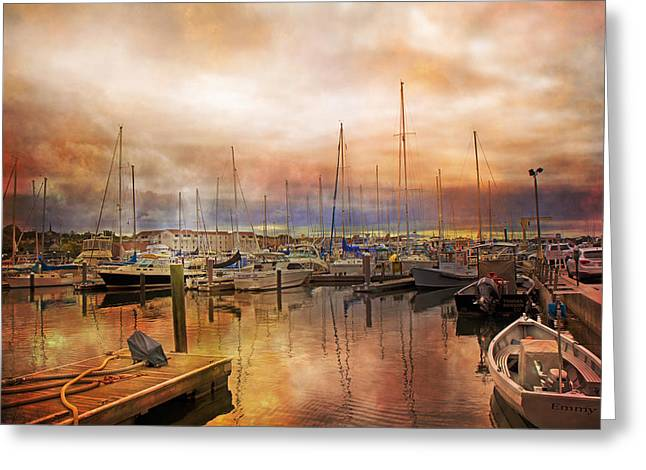 Newport Rhode Island Harbor I Greeting Card