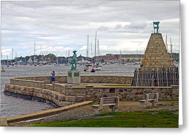 Newport Rhode Island Harbor Ivi Greeting Card by Betsy Knapp