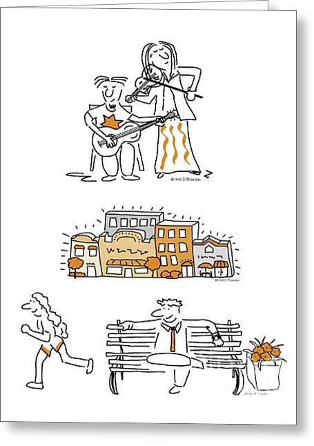 Newsletter Cartoons Composite Greeting Card