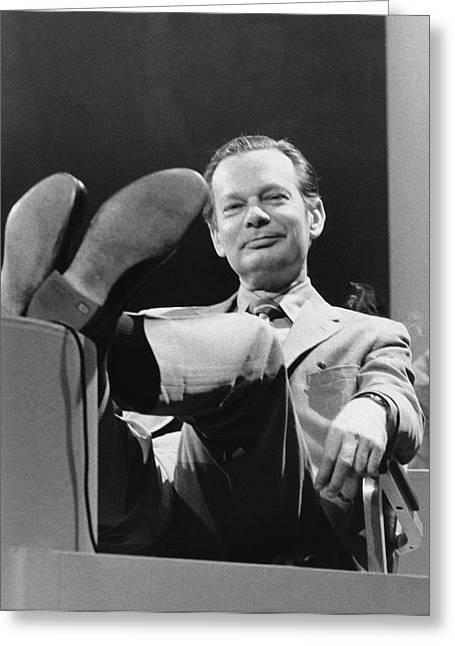 Newsman David Brinkley Greeting Card by Underwood Archives