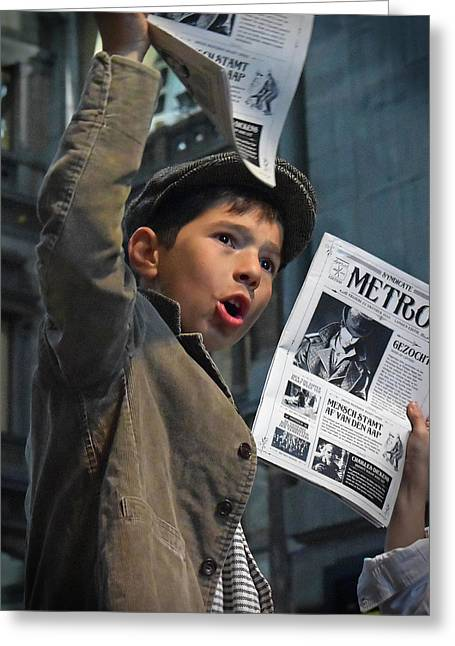 Newspaper Boys Greeting Card