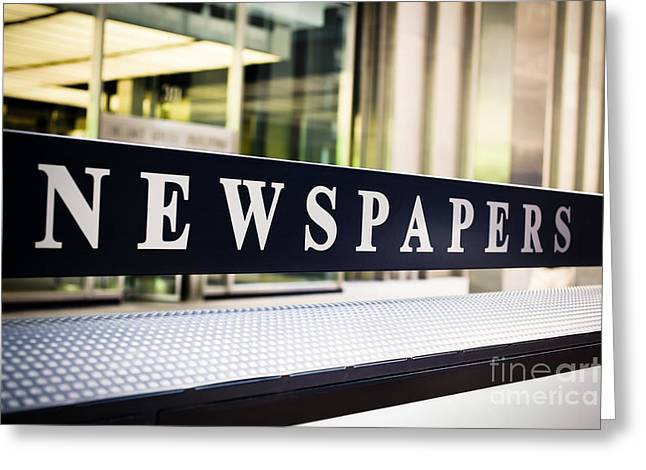 Newspapers Stand Sign In Chicago Greeting Card