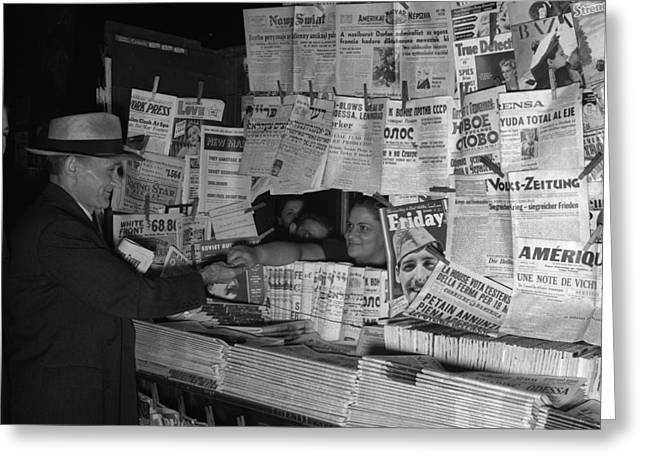 Newsstand, 1941 Greeting Card by Granger