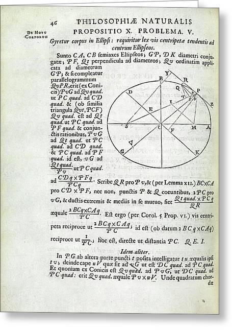 Newton On Elliptical Motion Greeting Card