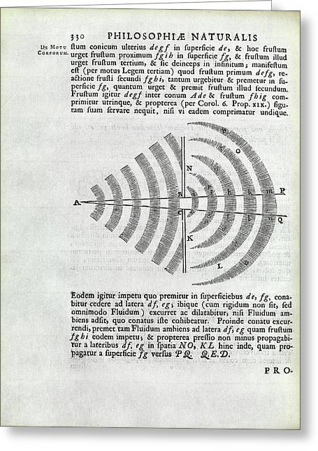 Newton On Wave Theory Greeting Card by Royal Institution Of Great Britain