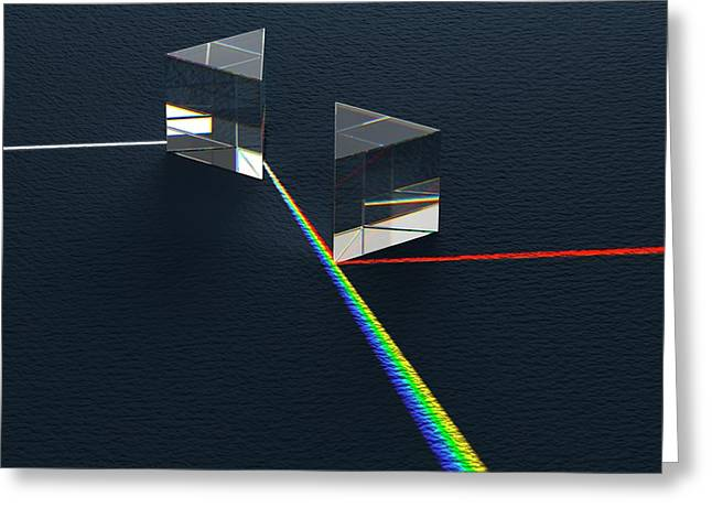 Newtonian Prism Arrangement Greeting Card by David Parker