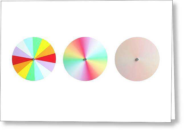 Newton's Disc Experiment Greeting Card by Science Photo Library
