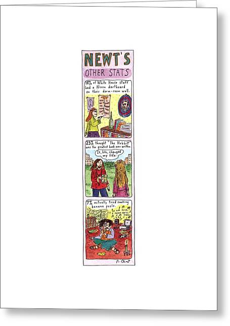 Newt's Other Stats Greeting Card by Roz Chast