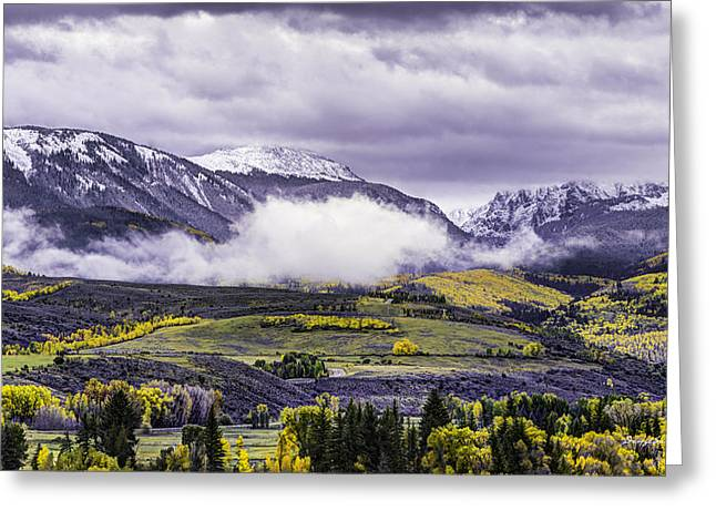 Newyorkmountaincolorado Greeting Card by Darryl Gallegos
