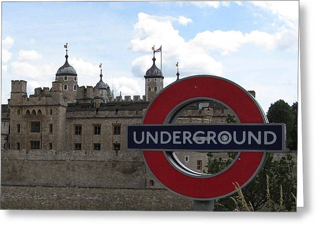 Next Stop Tower Of London Greeting Card by Jenny Armitage