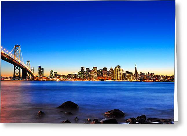 Next To The Bay Bridge And San Francisco Skyline Greeting Card