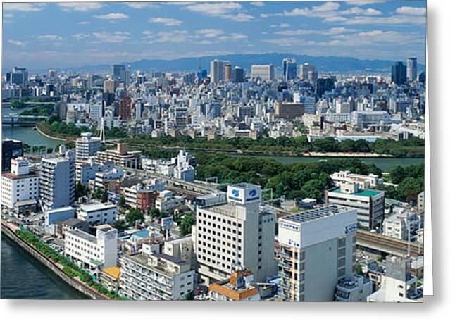 Neya River Osaka Japan Greeting Card by Panoramic Images