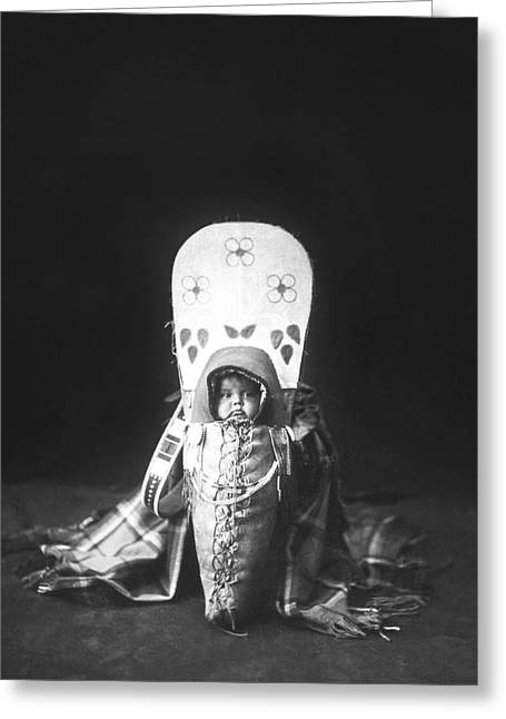 Nez Perce Babe Circa 1899 Greeting Card