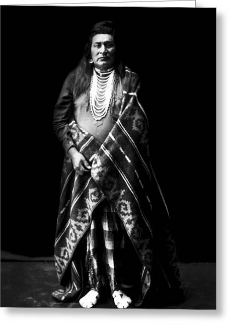 Nez Perce Indian Circa 1899 Greeting Card by Aged Pixel