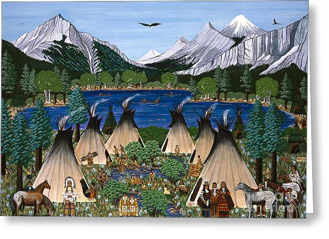 Nez Perce Wallowa Lake Greeting Card by Jennifer Lake