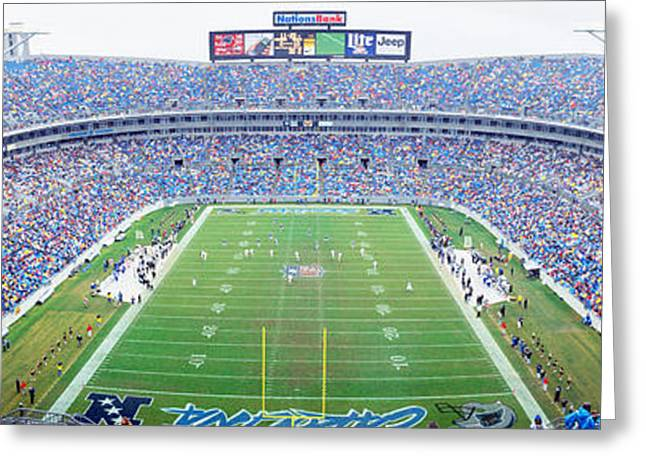 Nfl Football, Ericsson Stadium Greeting Card by Panoramic Images