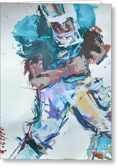 Nfl Football Painting Greeting Card