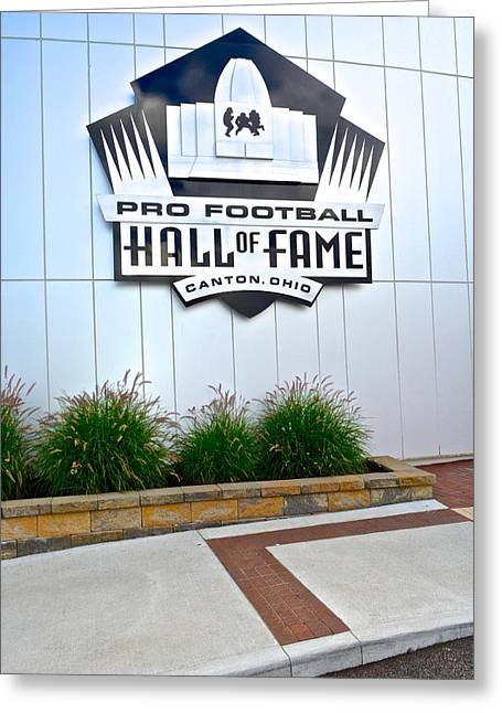 Nfl Hall Of Fame Greeting Card by Frozen in Time Fine Art Photography