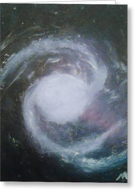 Ngc 1365. Barred Spiral Galaxy With Relativistic Jet Greeting Card by Nicla Rossini