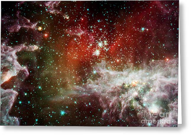 Ngc 281, Pacman Nebula, Infrared Greeting Card by Science Source