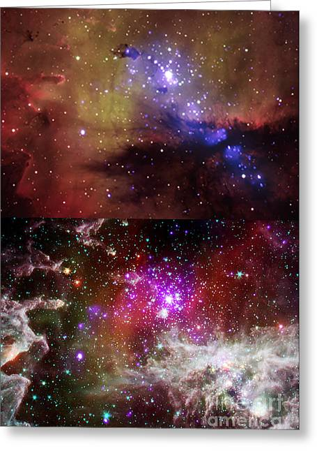 Ngc 281, Pacman Nebula Greeting Card by Science Source