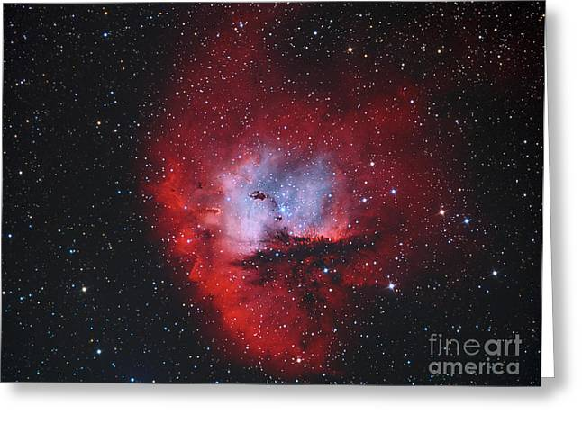 Ngc 281, The Pacman Nebula Greeting Card by Reinhold Wittich