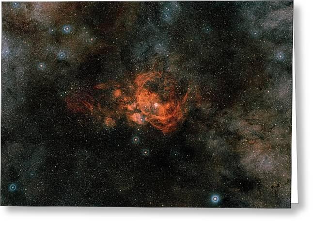 Ngc 6357 Nebula Greeting Card