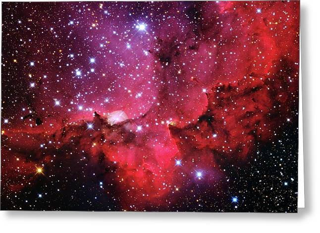 Ngc 7380 Star Cluster Greeting Card by Adam Block/mount Lemmon Skycenter/university Of Arizona