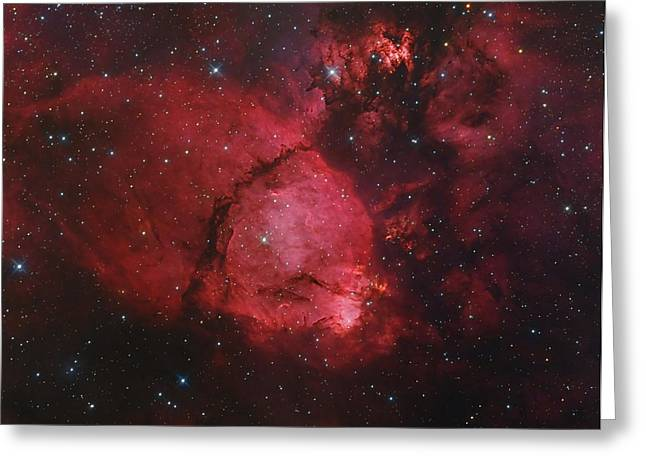 Ngc 896 In The Heart Nebula Greeting Card by Bob Fera