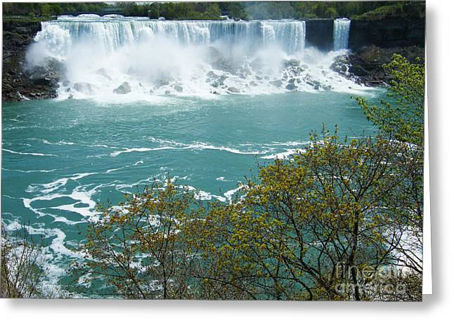 Niagara - American Falls In Spring Greeting Card by Phil Banks