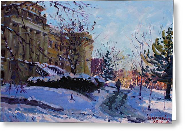 Niagara Arts And Cultural Center Greeting Card by Ylli Haruni