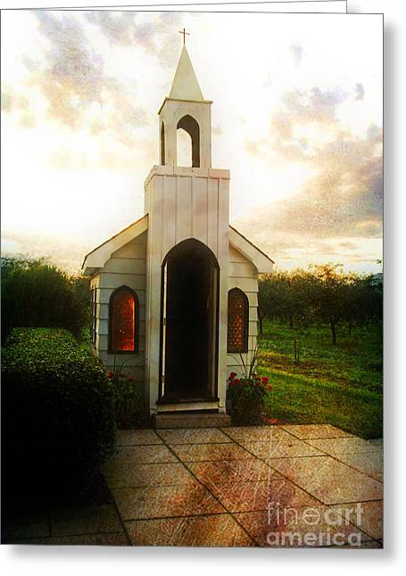 Niagara Church Greeting Card by Scott Pellegrin