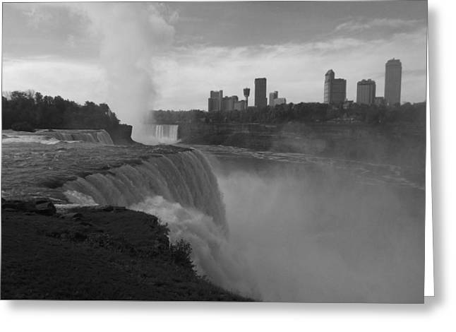 Niagara Falls - Autumn - B N W Greeting Card
